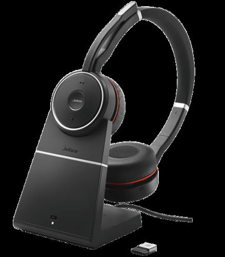 Jabra Evolve 75 Ms Stereo: Jabra Evolve 75 MS Bundle With Charging Stand
