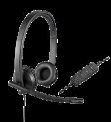 314c8d730c2 Logitech USB Headset H570e - Dual Ear - Over the Head - 981-000574