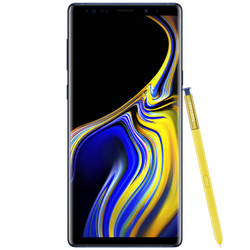 Unlocked Blue Samsung Note 9 with Gold S Pen